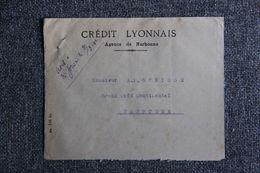 Enveloppe Publicitaire - NARBONNE, Crédit LYONNAIS ( Verso Coffre Fort ) - Banca & Assicurazione