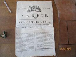 PORT DE LA LIBERTE LE 11 FRUCTIDOR AN 3 ARRÊTE LES COMMISSAIRES DELEGUES PAR LA CONVENTION NATIONALE AUX ISLES DU VENT - Plakate