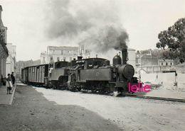 PHOTO : Train,  Malaga-Malagueta, Reproduction, 2 Scans - Trains