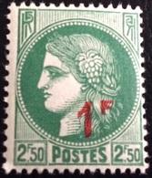 N° 488   NEUF ** SANS  CHARNIÈRE ( LOT:1189 ) - 1945-47 Cérès De Mazelin