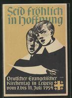 Künstler-AK Leipzig, Deutscher Evangelischer Kirchentag 1954 - Non Classificati