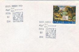 1974 GUBBIO FESTA DEI CERI (15.5) Annullo Speciale Su Busta - 1971-80: Marcofilie