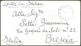 1943 PRIGIONIERO GUERRA Italiano In Gran Bretagna Biglietto Franchigia POW CAMP 28 (127) - 1900-44 Vittorio Emanuele III