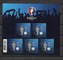 Euro 2016 Bloc Uefa BF 137 Neuf** Timbres 1euro - Nuovi