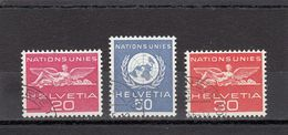 Suisse - Année 1959 - Service - Oblitéré - N°Zumstein 28/30 - ONU - Sujets Symboliques - Service