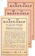 Klein Golf - Spielregeln - Spelregels Mini Golf - 3 Ticketten - Non Classés