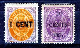 DANISH WEST INDIES 1887  OVERPRINTS   MH - Denmark (West Indies)