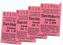 Toegangskaart , Eintrittskarte Palmengarten - Frankfurt Am Main - 4 St. - Eintrittskarten