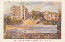 NAPOLI-PENSIONE =PINTO-STOREY=-CARTOLINA LITOGRAFICA-NON VIAGGIATA -ANNO 1920-1930 - Napoli
