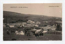 - CPA PRUZILLY (71) - Le Bas Du Bourg (avec Personnages) - Edition Lémonon-Ducoté - - France