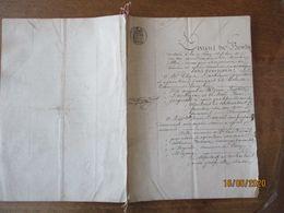 LURCY LEVY ET POUZY MEZANGY ALLIER LE 18 JANVIER 1873 CONTRAT DE MARIAGE ENTRE CHARLES DUCHEZEAU ET MARIE DAVAIL - Manuscrits