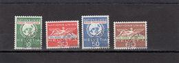 Suisse - Année 1962 - Service - Oblitéré - N°Zumstein 34/37 - ONU - Timbres Spéciaux Pour Le Musée - Service