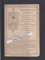 ZAVENTEM-BROEDERSCHAP-O.L.V VAN SCHERPENHEUVEL-BIJZONDERE AFLATEN-PRENTJE+-1900-4BLDZ-STEENDRUK-V.D.VYVERE-3SCANS-RARE - Imágenes Religiosas