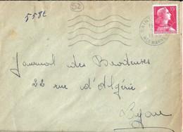 52 . HAUTE MARNE . SAINT DIZIER . SECAP . 1954/55 - Marcophilie (Lettres)