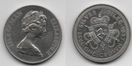+ ISLE OF MAN  + 1 CROWN 1977 + J'UBELEE D'ARGENT + - Australie