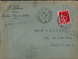 56 . MORBIHAN . PONTIVY A ST BRIEUC . TàD De Type CCL3 . 1937 - Postmark Collection (Covers)