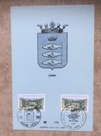 1991 (2x Pont Saint-Nicolas Chiny) - 2 Cachets Différents 27-9-1980 : Izel - Diest - Maximumkarten (MC)