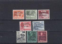 Suisse - Année 1963 - Service - Oblitéré - N°Zumstein 1/8 - OIR - Technique Et Paysage Et Sujets Historiques - Service