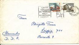 Portugal Cover Sent To Germany DDR Lisboa 1976 - 1910-... République