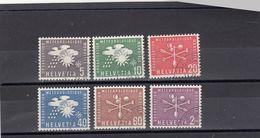 Suisse - Année 1956 - Service - Oblitéré - N°Zumstein 1/6 - OMM - Sujets Symboliques - Service