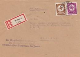 Einschreiben Weimar, Reichsstatthalter Innenministerium Nach Schleiz - Servizio