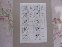 FRANCE 2008  F4128A   * *   COEUR DE SORBIER LUXE NON PLIE LOGO  JE TAIME EN DIX LANGUES - Personalized Stamps