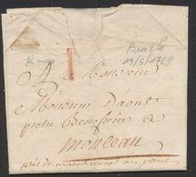 Précurseur - LAC Départ à Examiner (19/5/1769) + Port I à La Craie Rouge > Monceau (près De Marchienne Au Pont) - 1714-1794 (Pays-Bas Autrichiens)