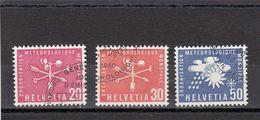 Suisse - Année 1960 - Service - Oblitéré - N°Zumstein 7/9 - OMM - Sujets Symboliques - Service