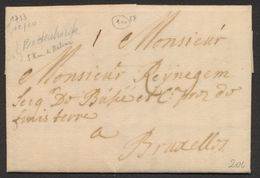 Précurseur - LAC Datée De Battenbroek (1713, Mechelen) + Port I > Bruxelles. - 1621-1713 (Spanish Netherlands)