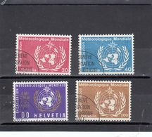 Suisse - Année 1973 - Service - Oblitéré - N°Zumstein 10/13 - OMM - Sujets Symboliques Et Centenaire - Service