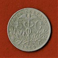 BOLIVIE / CINCO CENTAVOS / 1919 - Bolivia