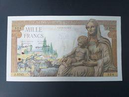 FRANCE-1000 FRANCS 1943 Demeter.SUP - 1871-1952 Anciens Francs Circulés Au XXème