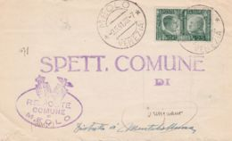 1941 AMICIZIA C.25 Isolato Su Piego Meolo (9.5) Tariffa Ridotta Sindaci - Storia Postale