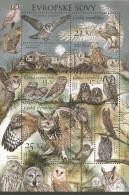CZ 2015-853-6 FAUNA OWLS, CZECH REPUBLIK, S/S, MNH - Blocks & Sheetlets