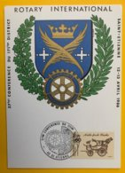 10277 - Carte 37ième Conférence Rotary International Saint-Etienne 1986 - Covers & Documents