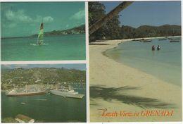 Grenada (W.I.) - Lovely View - (Catamaran, Oceansteamer, Freighter) - Grenada