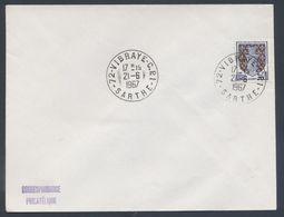 72 Vibraye C.P. 1 Sarthe Correspondant Postal Cercle Plein Au Lieu D'hexagone Automobile Rurale 1967 - Postmark Collection (Covers)