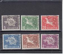 Suisse - Année 1956 - Service - Oblitéré - N°Zumstein 1/6 - UPU - Sujets Symboliques - Service