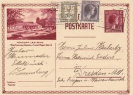1932 LUSSEMBURGO CP C. 40 Mondorf-les-Bains, Viaggiata - Hydrotherapy