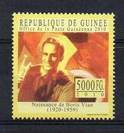 REP. GUINEA. 2010. LITERATURE. BORIS VIAN. MNH (6R1170) - Writers
