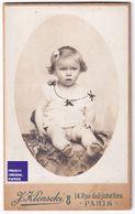 Rare Carte De Cabinet CDV 1902 Studio Photo Klenscki Paris Garçon Bébé Enfant Nu - Nude Boy Child Baby Card RPPC A36-14 - Fotos