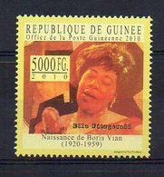 REP. GUINEA. 2010. BORIS VIAN - ELLA FITZGERALD. MNH (6R1171) - Writers