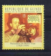 REP. GUINEA. 2010. BORIS VIAN. MNH (6R1172) - Schriftsteller