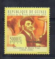 REP. GUINEA. 2010. BORIS VIAN - FATS WALLER. MNH (6R1173) - Writers