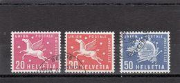 Suisse - Année 1960 - Service - Oblitéré - N°Zumstein 7/9 - UPU - Sujets Symboliques - Service