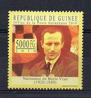 REP. GUINEA. 2010. BORIS VIAN. MNH (6R1174) - Writers