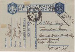 1942 CENTRO P.T. SPECIALE MONTOROTONDO Lineare Su Cartolina Franchigia Manoscr 28.4 - 1900-44 Vittorio Emanuele III