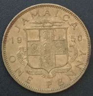 JAMAIQUE - JAMAICA - 1 ONE PENNY 1950 - George VI - KM 35 - Colonias