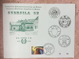 2053 (Esperanto) Sur Carte Souvenir N° 79 - 5 Cachets Différents 9-10-1977 : Bruxelles 1140 , Evere, Brussel 1140 - Souvenir Cards