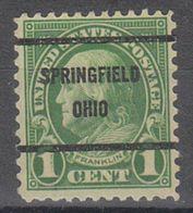USA Precancel Vorausentwertung Preo, Bureau  Ohio, Springfield 632-61 - Vereinigte Staaten